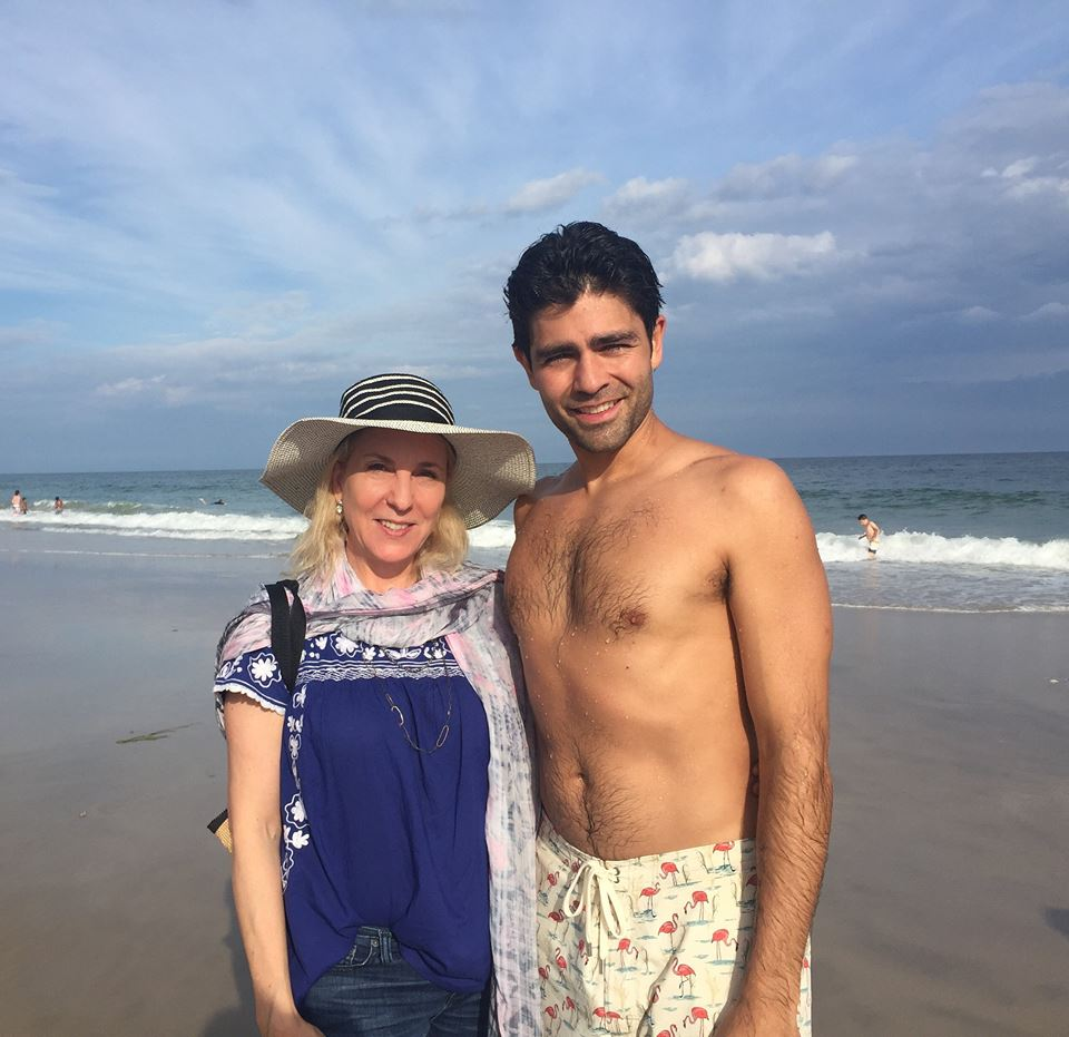 Musings Editor-in-Chief Susan Rockefeller with Adrian Grenier