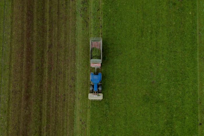 Stone Barns aerial shot of farm